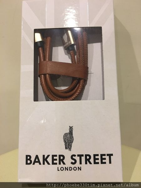 iPhone充電線【英國Baker Street】COLOR 4 U 皮革