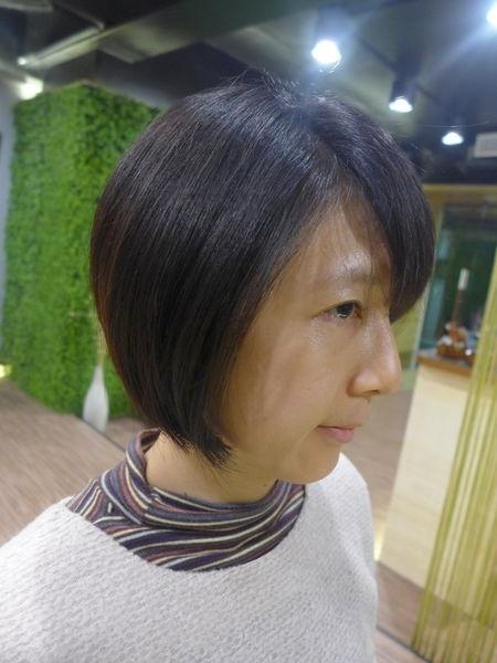 捷運中山站█EAN Hair Salon█設計師Peter~走樣的髮型立馬變身俏麗清爽短髮
