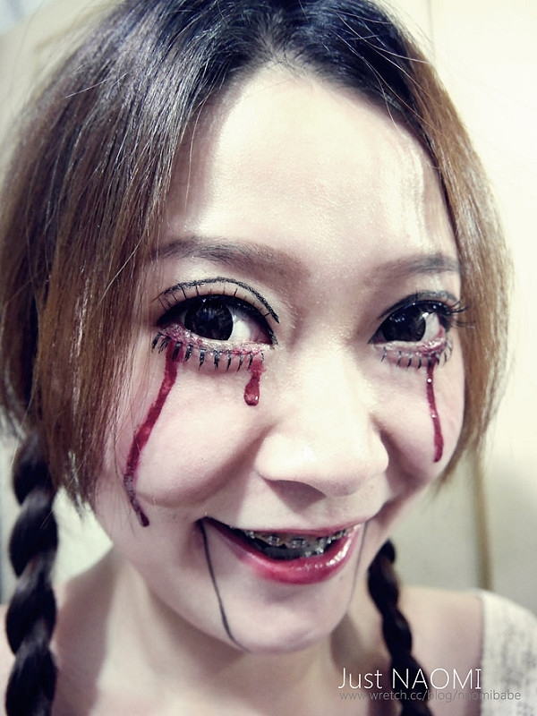 [美妝]萬聖節的恐怖腹語娃娃妝