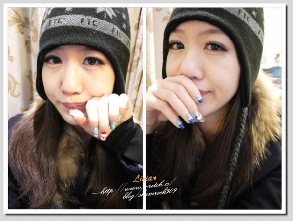 【Livia♥指彩】冬天也要有可愛指甲彩繪♥超簡單DIY