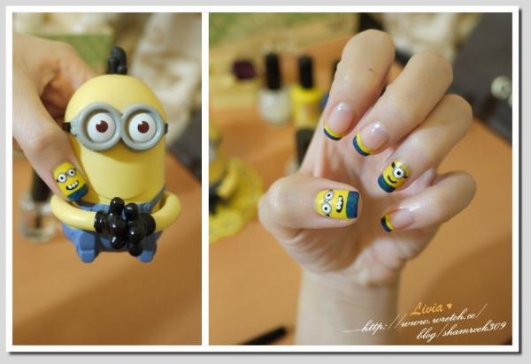 【Livia♥指彩】Minions 小小兵♥我也有可愛的指甲彩繪DIY