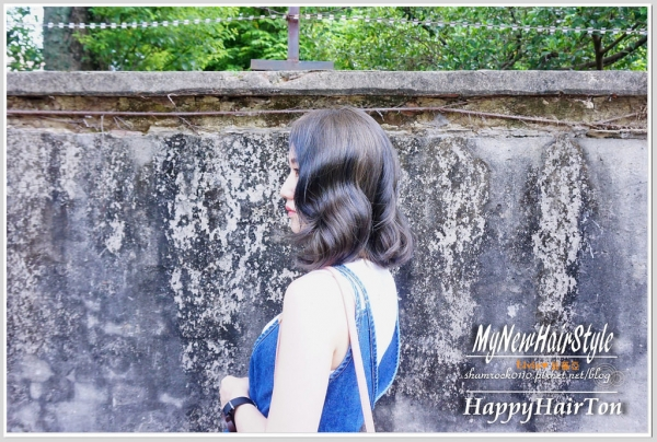 【Livia*美髮】短髮也可以浪漫大捲 霧灰藍+棕綠色漂髮♥台中Hair Ton大師