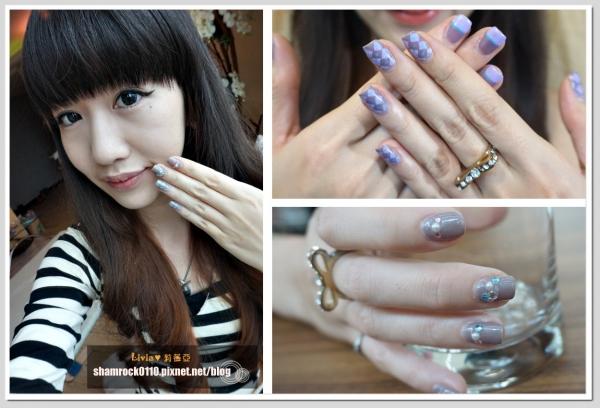 【Livia♥指彩】學院風菱格/水鑽裝飾款指甲彩繪DIY教學