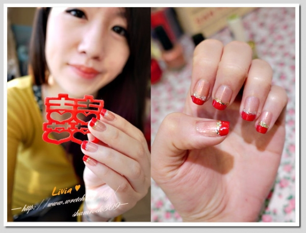 【Livia♥指彩】新年快樂♥超喜氣指甲彩繪DIY
