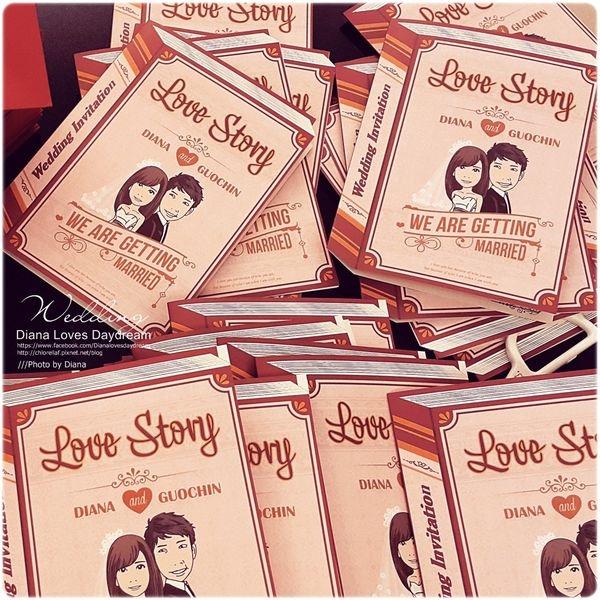 喜喜 ▍♥ 愛的童話故事 ♥ 公版就可做出獨一無二專屬與我們的喜帖
