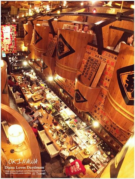 沖繩 ▍坐在木桶裡吃飯吧! ♥目利きの銀次 ♥ CP值高的特色居酒屋