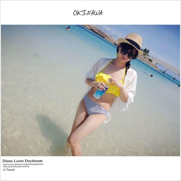 沖繩 ▍果凍般超美漸層色 ♥ 美美海灘bibi beach ♥ 沙灘細軟,水上活動完善還有最新潛水活動water bird