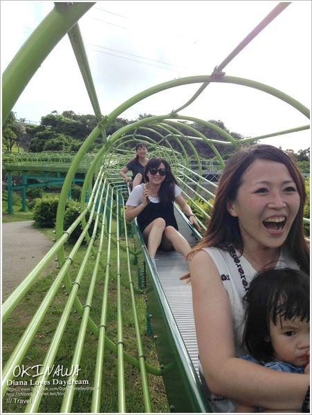 沖繩 ▍♥浦添大公園♥屁股會開花的沖繩最長溜滑梯,好玩指數破表!