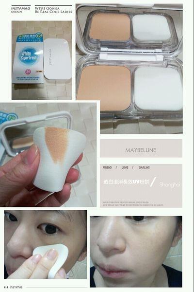 【美妝】清爽不留痕跡的乾淨妝容♥Maybelline透白澄淨長效UV粉餅