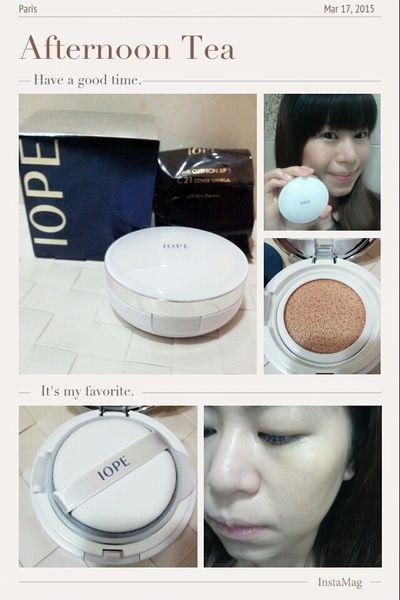 【美妝】畫出韓風的光澤妝容♥IOPE水潤光感舒芙蕾粉凝乳XP SPF50+/PA+++