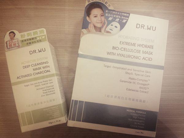 【保養】終結油光粉刺&超保濕亮白面膜~Dr.Wu
