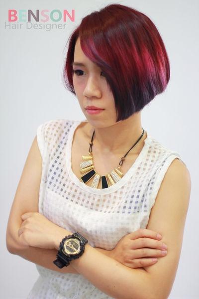 流行髮型髮色~漸層光影染髮豐收的莓果~台北染髮推薦西門町東區髮型BENSON