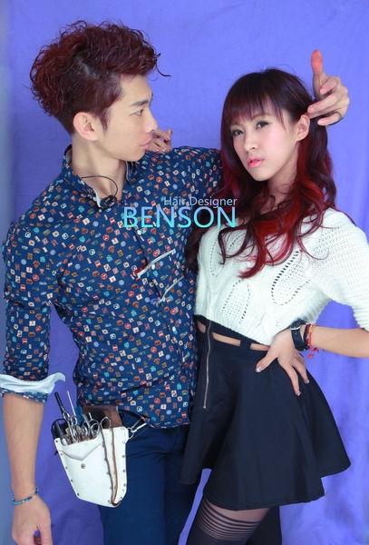 流行髮型~空氣感瀏海~紫紅色酒紅色櫻桃色染髮~推薦東區染髮西門町髮型設計師Benson