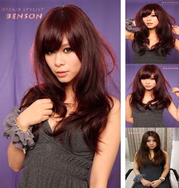 流行新髮色【秋冬最夯~黑櫻桃莓果色】~西門町髮型設計BENSON