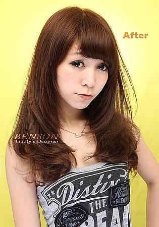 2014時尚流行髮型#韓風瀏海篇#同時擁有可愛和女人味的風格~西門町髮型設計BENSON