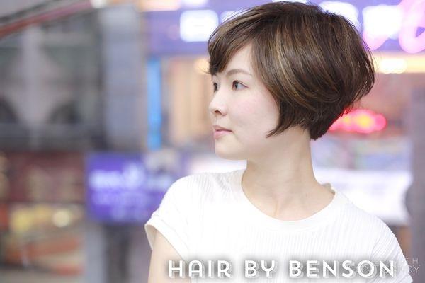 2017流行髮型~短髮也能歐美風<<線性挑染Hight Light>>~台北染髮西門町東區髮型推薦尚洋BENSON