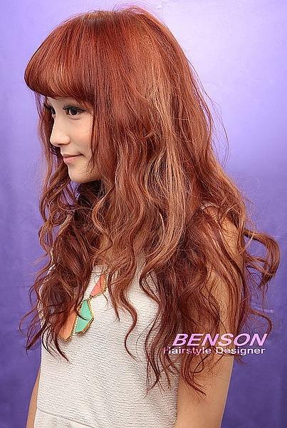 2014流行髮型 夏~秋 歐式休閒浪漫風格(三)~甜美的華麗韻味~西門町髮型設計BENSON