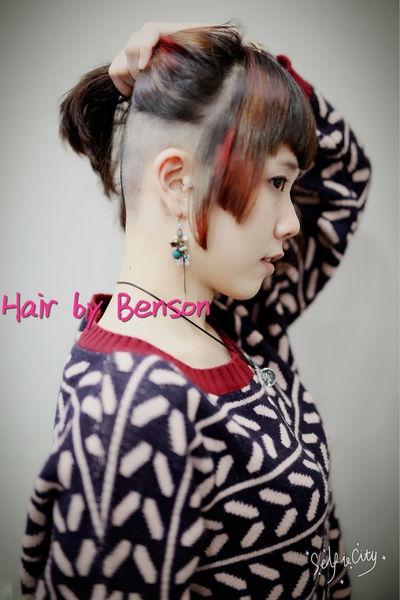 2016個性髮型~3D染髮~埃及艷后瀏海~女版undercut~不平凡的美麗髮型~台北剪髮西門町髮型設計師BENSON