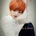 她很漂亮 漂染髮 ~西門町尚洋髮型BENSON