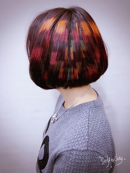 2016流行髮型染髮3D立體相素染馬賽克染髮~BOB也能有大確幸~台北染髮推薦西門町髮型BENSON