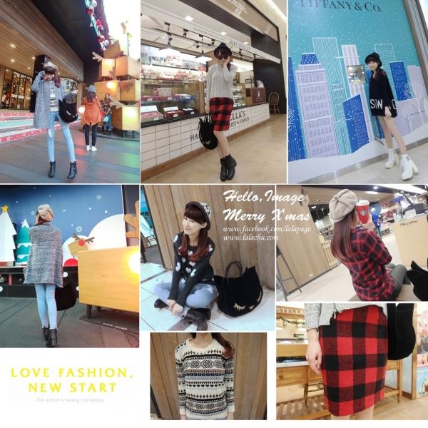 ▋穿搭 ▋冬日暖心穿搭❤愛心、紅格、圖騰、毛毛!! IMAGE平價好質感
