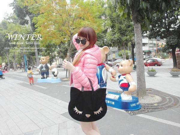 ▋輕旅穿搭 ▋ 冬日不當厚片女孩!! 穿著保暖的「ibs極輕量羽絨外套」到草悟道找泰迪熊玩耍❤