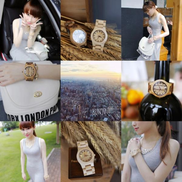 ▌時尚 ▌純色修身長洋 X Freedom&Seed木製腕錶|輕夏日穿搭