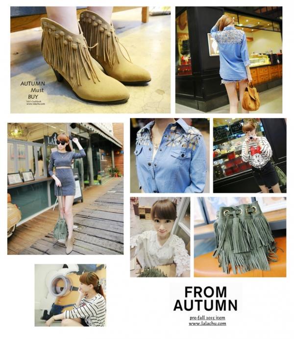 ▌穿搭 ▌韓貨。秋季微醺女孩Ms.J讓我愛上充滿個性的微甜時尚!!