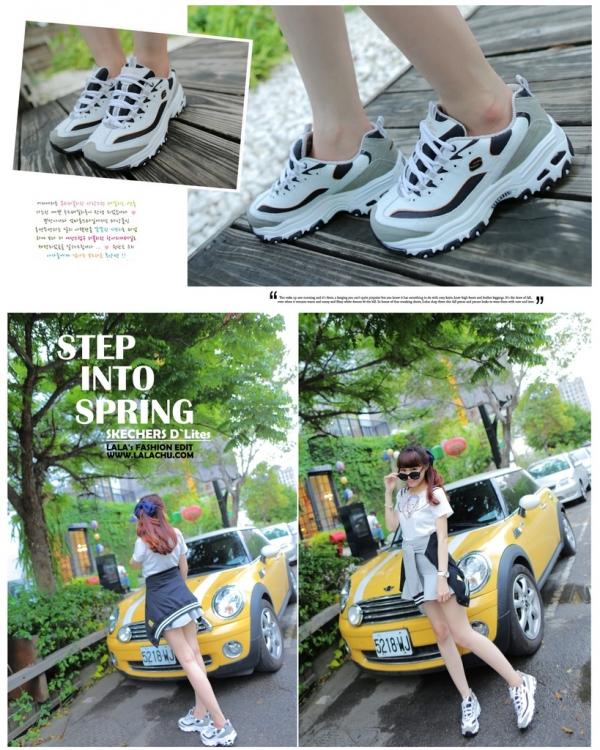 ▌穿搭 ▌韓妞超火SKECHERS D'Lites,運動鞋也可以很時尚!!
