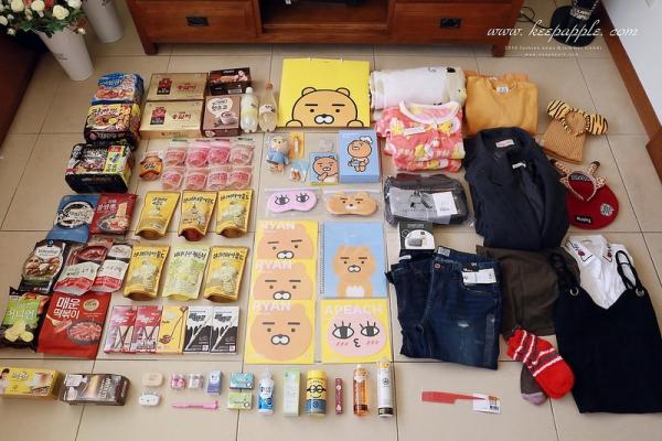 【旅行+敗家】2016韓國大邱八天七夜戰利品。我好喜歡的萊恩一大堆