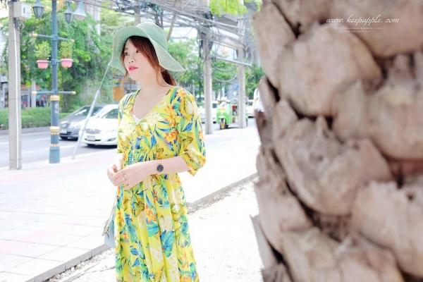 【旅行+穿搭】在曼谷雨季的穿搭 // 涼爽又遮陽的一件式洋裝4LOOKS