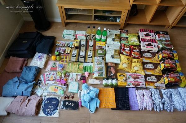 【敗家】本來想說要收斂結果還是買了不少。韓國首爾7天六夜自由行戰利品