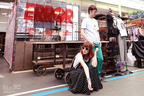 【穿搭】fandora shop。童趣繽紛的彩色世界X兩套情侶T恤穿搭