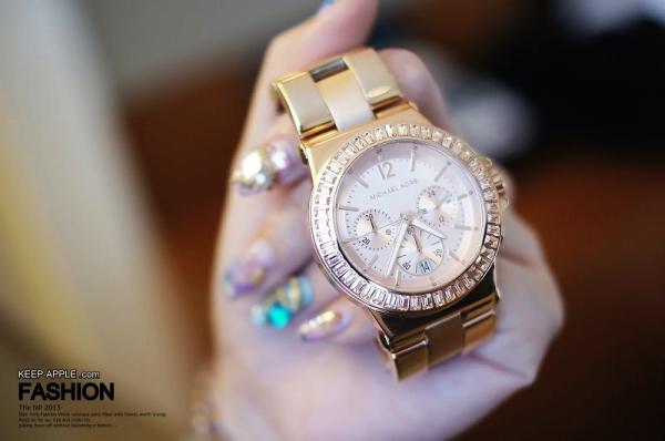 【敗家】Baguette-Beze。我現在超愛的MICHAEL KORS玫瑰大金錶❤