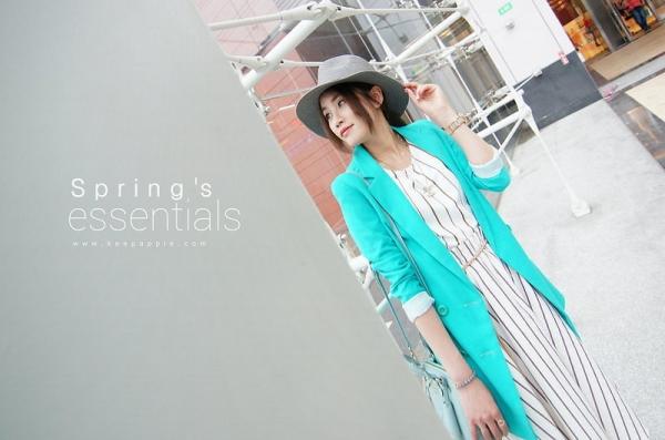 【Daily Outfit】同元素混搭mix綠色帶出春天的清新感