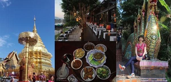 【旅行|泰北自助】古城週邊-素帖寺*湄濱河景觀餐廳Deck 1*Khum Khantoke帝王宴