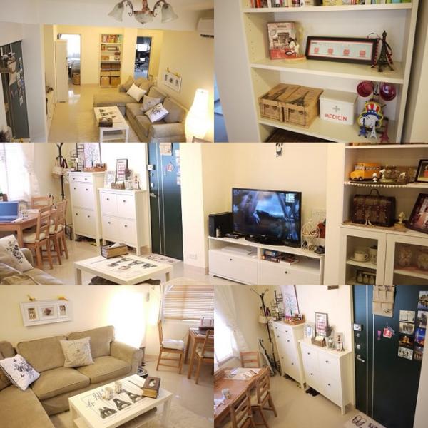 【新家佈置】客廳篇:很有愛的溫馨舒適Living room (附帶分享小廚房與浴室)