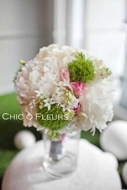 【婚紗】我的超完美拍婚紗用捧花,好香好美的牡丹與風信子捧花