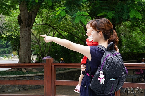 媽媽包▋Epachi依帕吉~時尚高雅大容量空氣後背媽媽包,低調高貴菱格紋紫(文末抽媽媽包)
