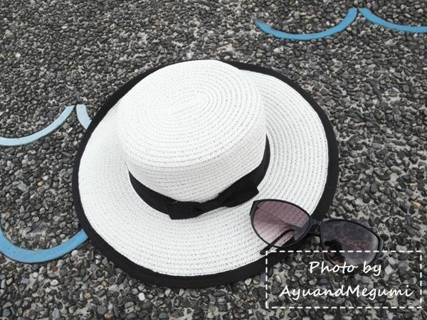 分享♥白x黑。我的淘寶便宜蝴蝶結拼接藤編草帽 #穀兜空間 #SISGO團購