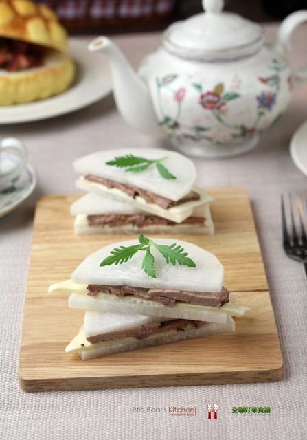 【食譜】春玉夾肉—–超低卡三明治