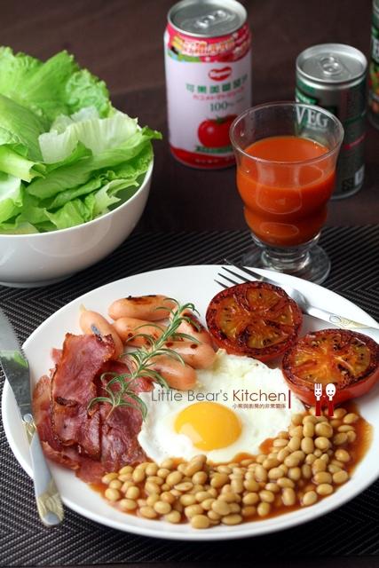 【食譜】可果美減鈉減卡蕃茄醬—傳統英式早餐, baked bean 茄汁烤豆好風味