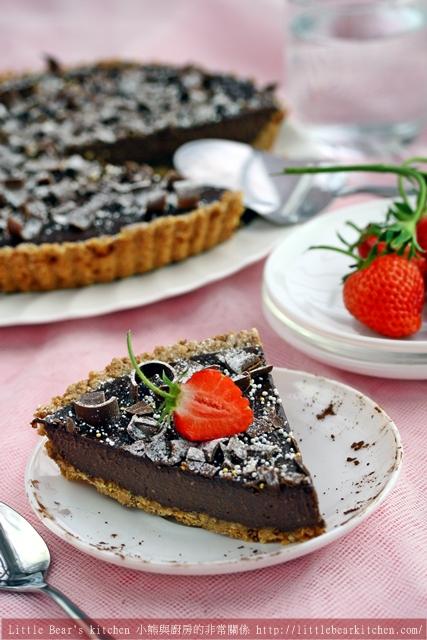 【食譜與文章】新部落格開站致詞—-法式巧克力塔Chocolate delice
