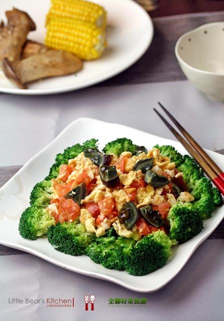 【食譜】三色番茄蛋炒青花菜—-傻瓜也會做的快速美味三色蛋