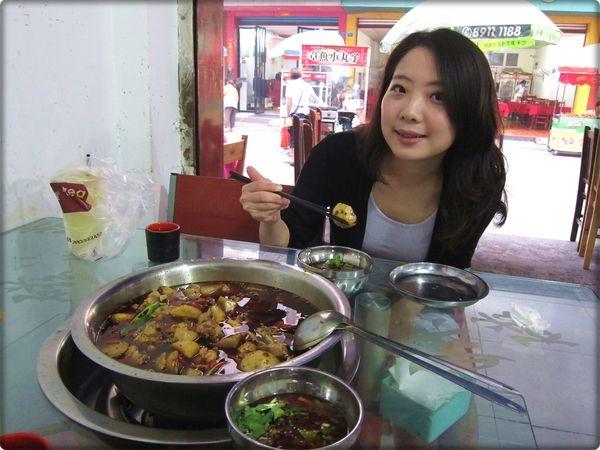 [溫江] 芋頭+雞+麻辣火鍋=? ♥ 香糯軟嫩的芋兒雞