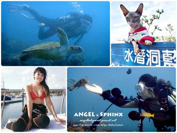 「墾丁」泡泡魚船潛平台潛各種舒服的潛水前滾後滾翻  藍洞潛水Blue Hole Dive Center