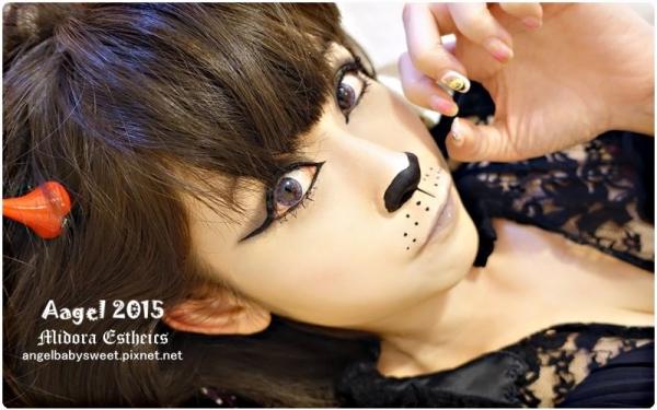 「美甲」桃園蜜朵拉美學Midora Estheics,八倍淨膚水雕漩渦臉部SPA+萬聖節光療