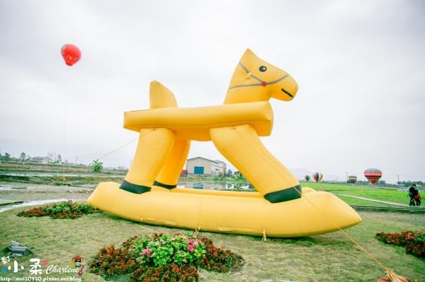 【宜蘭三星】2016三星花海氣球嘉年華~兩層樓高充氣搖搖洛克馬~可乘坐熱氣球拍照喔!