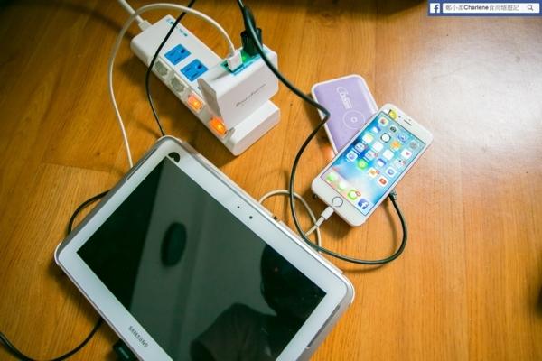 【網購3C】PowerFalcon-QC2.0快充USB多孔充電器,高輸出25w,可同時快速充飽4個裝置,玩寶可夢不怕沒電啦!iphone 6s也適用~iphone7上市週邊充電器開箱(體驗)