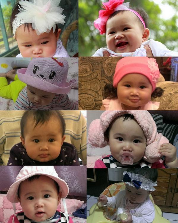 【寶寶♥髮飾】(7M~8M)小伊亞公主風髮飾分享ღ寶寶頂上無毛該怎麼辦,教妳怎麼讓她從小男生變小美女
